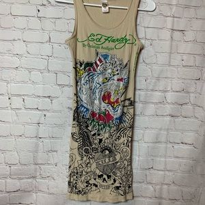 Ed Hardy T-shirt Dress one Size